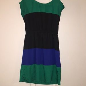 Green black and blue Maurices dress